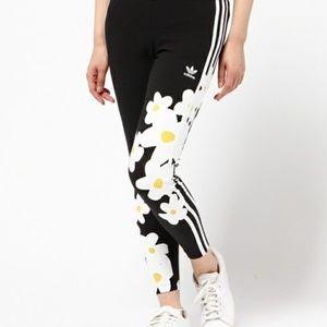 da6ff95fd28e adidas Pants - Adidas Pharrell Williams 3 stripe daisy leggings
